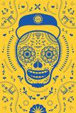 Hoops Skull Yellow Prints by John Hersey