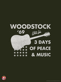 Woodstock- Guitar Poster Kunstdrucke von  Epic Rights