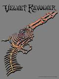 Velvet Revolver Skeleton Pistol Posters