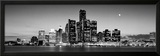 Buildings at the Waterfront, River Detroit, Detroit, Michigan, USA Framed Photographic Print by  Panoramic Images