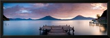 Jetty in a Lake with a Mountain Range in the Background, Lake Atitlan, Santa Cruz La Laguna Framed Photographic Print by  Panoramic Images