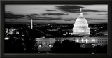 High Angle View of a City Lit Up at Dusk, Washington Dc, USA Framed Photographic Print by  Panoramic Images