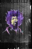 Jimi Hendrix Graffiti NYC Plakater