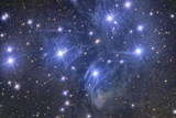 Pleiades Star Cluster Fotografisk tryk af Stocktrek Images,