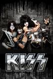 KISS - Dripping Black Poster