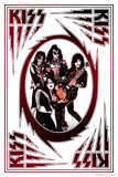 KISS - Bolts (Red and Black) Poster