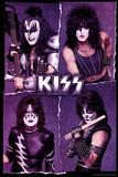 KISS Collage Kunstdruck