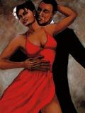 Fantasy in Red Posters av Monica Stewart