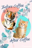 Before Coffee, After Coffee Posters by Rachael Hale