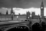 Bridge across a river, Westminster Bridge, Houses Of Parliament, Big Ben, London, England Fotografie-Druck von  Panoramic Images