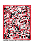 Fun Gallery Exhibition, 1983 Giclée-tryk af Keith Haring