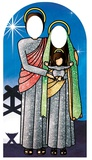 Holy Religious Sacred Family Adult Stand-in (Nightfall Green and Red) Sagomedi cartone