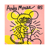 Andy Mouse 1985 Giclée-tryk af Keith Haring