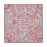 Untitled, 1989 Giclée-tryk af Keith Haring