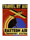 Travel By Air Plakater