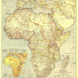 1935 Africa Map Vægplakat, stor af  National Geographic Maps