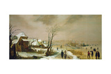 Winter Landscape, 17th century Lámina giclée por Adam Van Breen