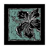 Tropical Woodblock IV Art by Chariklia Zarris