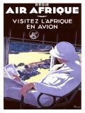Air Afrique Giclée-tryk af A. Roquin