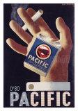 Adolphe Mouron Cassandre - Pacific Cigarettes - Giclee Baskı