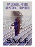 S.N.C.F Giclée-tryk af Paul Colin