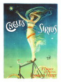 Bicicletas Sirius (postal extra grande) Lmina gicle por PAL (Jean de Paleologue)