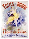 Fleur de Lotus, Folies Bergere Giclee Print by Jules Chéret