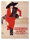 Calzaturificio di Varese Giclee Print by Leopoldo Metlicovitz