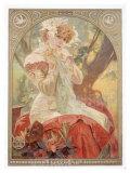 Lefevre-Utile, Sara Bernhard Giclee Print by Alphonse Mucha
