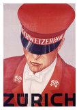 Schweizerhof, Zurich Giclee Print by Alex W. Diggelmann