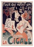 La Cigale Giclee Print by Jules-Alexandre Grün