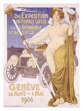 Expo Suisse de l'Automobile Giclee Print