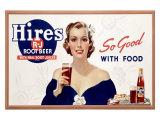 Hires Root Beer Lámina giclée