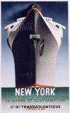 Normandie, Nueva York Lámina giclée por Adolphe Mouron Cassandre