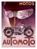 Automoto Giclee Print by Max Ponty