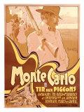 Monte Carlo, Tir aux Pigeons Giclee Print by Adolfo Hohenstein