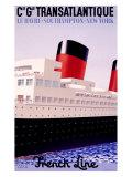Transatlantique Giclée-tryk af Paul Colin
