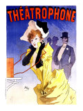 Theatrophone Giclee Print by Jules Chéret
