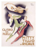 Mitty Tillio and Ricaux Giclee Print by Paul Colin