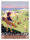 Golf de la Soukra, Tunis Giclée-tryk af Roger Broders