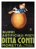 Ditta Conti Giclee Print by Achille Luciano Mauzan