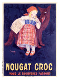 Nougat Croc Giclee Print by A. Cometti