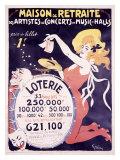 Loterie Maison de Retraite Giclee Print by Jules-Alexandre Grün