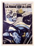 Femme Sur la Lune Giclee Print by H. Cerutti