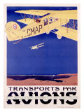 Transports par Avion Giclee Print by Terrando 