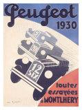 Peugeot Giclee Print by A. N. Girard