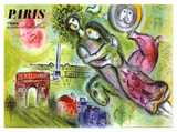 Marc Chagall - Paris, l'Opera, 1965 - Giclee Baskı
