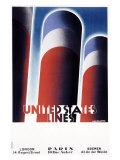 United States Line Giclee-trykk av Adolphe Mouron Cassandre