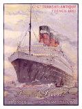 Transatlantique, Paquebot Giclee Print by Albert Sebille