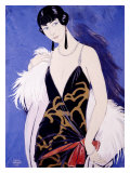 Beauty in Blue Giclee Print by Georges Barbier